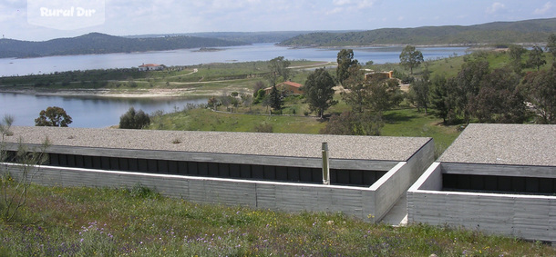 Panoramica de la casa rural Embalse de Alcántara